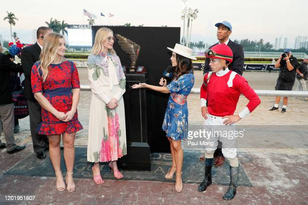 Zan Wilson Belinda Stronach Britney Eurton and Winning Jockey Irad Ortiz Jr in the Winners Circle at the 2020 Pegasus World Cup Championship...