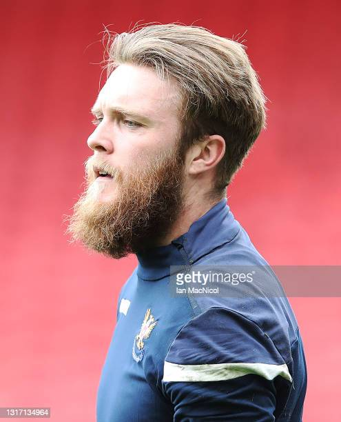 Zander Clarke of St Johnstone is seen prior to the games during the William Hill Scottish Cup match between St Mirren and St Johnstone at Hampden...