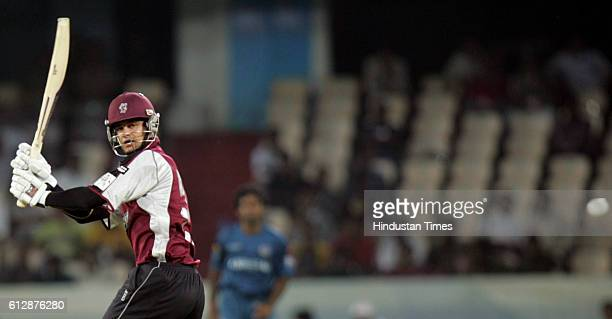 Zander de Bruyn of Somerset edges the ball towards the boundary during the Airtel Champions League Twenty20 Group A match between the Deccan Chargers...