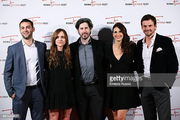 Zander Lehman Tara Lynne Barr Jason Reitman Michaela Watkins and Tommy Dewey attend the 'Casual' Red Carpet at Cinema Adriano on November 13 2015 in...