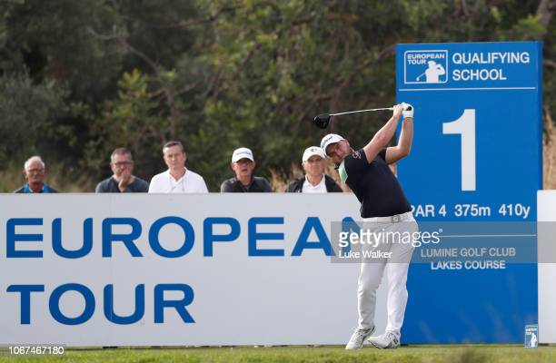 Zander Lombard of South Africa plays a shot during Day Five of the European Tour Qualifying School Final Stage at Lumine Golf Club on November 14...