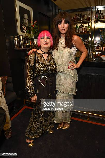 Zandra Rhodes and Guest attends the launch of model Pat Cleveland's new book Walking With The Muses at Blakes Below on September 17 2016 in London...