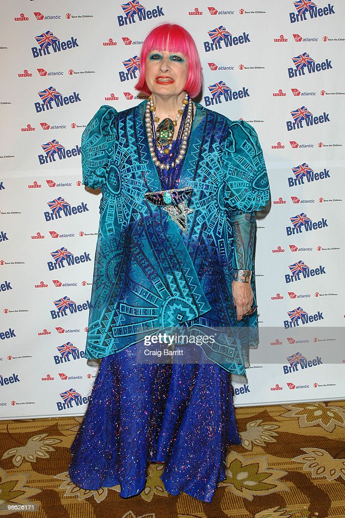 Zandra Rhodes arrives at BritWeek's Save The Children And Virgin Unite Charity Event at the Beverly Wilshire hotel on April 22, 2010 in Beverly Hills, California.