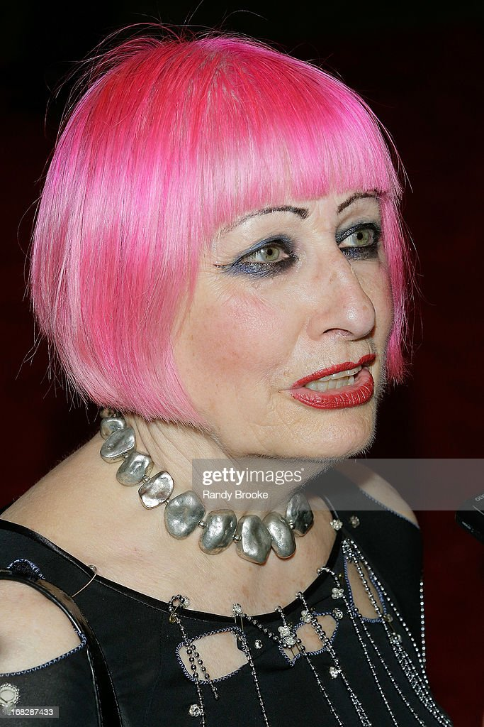 Zandra Rhodes attends the Costume Institute Gala for the 'PUNK: Chaos to Couture' exhibition at the Metropolitan Museum of Art on May 6, 2013 in New York City.