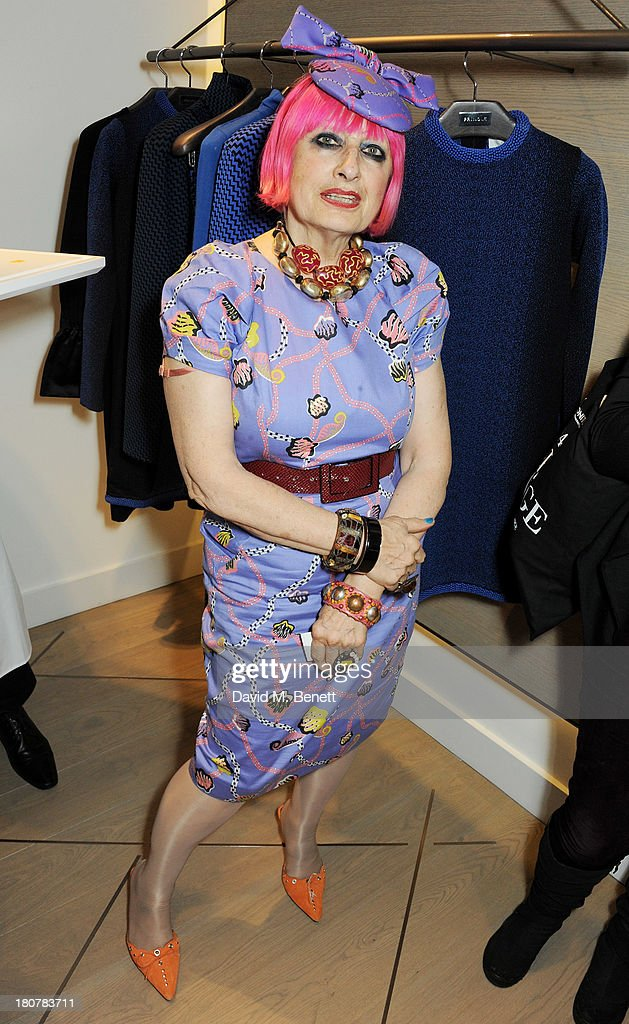 Zandra Rhodes attends the Pringle of Scotland flagship store launch on September 16, 2013 in London, England.