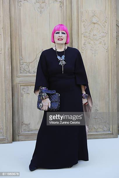 Zandra Rhodes attends the Valentino show as part of the Paris Fashion Week Womenswear Spring/Summer 2017 on October 2 2016 in Paris France