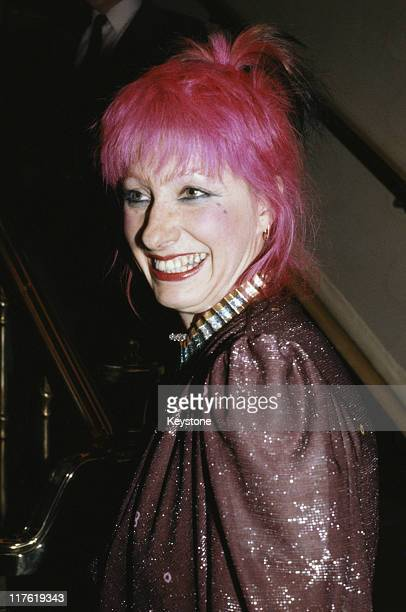 Zandra Rhodes British fashion designer attending the 'Women of the Year' luncheon in London England United Kingdom in October 1981