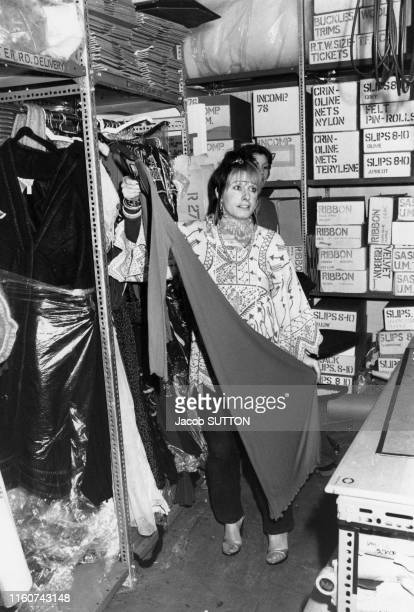 Zandra Rhodes créatrice de mode anglaise à Londres le 18 mars 1978 RoyaumeUni