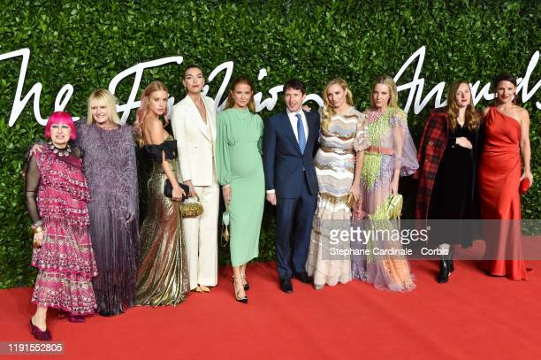 Zandra Rhodes guest Lady Mary Charteris Arizona Muse Millie Mackintosh James Blunt Lady Sofia Wellesley Alice NaylorLeyland and guests arrive at The...