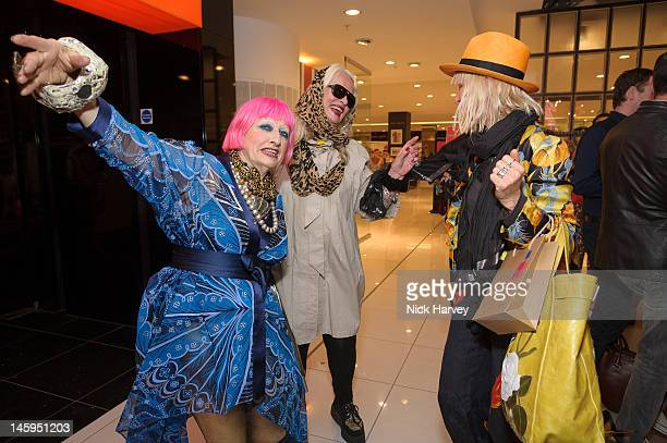 Zandra Rhodes Jibby Beane and Virginia Bates attend the launch of Advanced Style hosted by Mary Portas and Ari Seth Cohen at Mary's Shop House of...