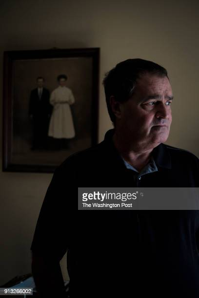 Zane Cambell in front of a photograph of his grandparents in his home in Elkton Maryland on Tuesday December 26 2017 in Elkton Maryland Zane Campbell...