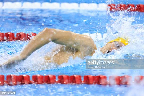 Zane Grothe wins the men's 800m freestyle final at the 2018 TYR Pro Series on July 8 2018 in Columbus Ohio