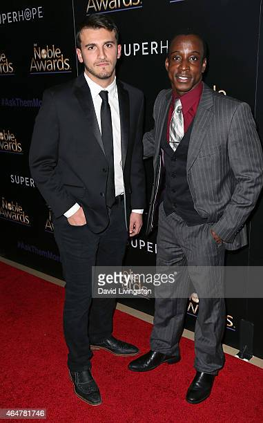 Zane Hijazi and actor Shaka Smith attend the 3rd Annual Noble Awards at the Beverly Hilton Hotel on February 27 2015 in Beverly Hills California