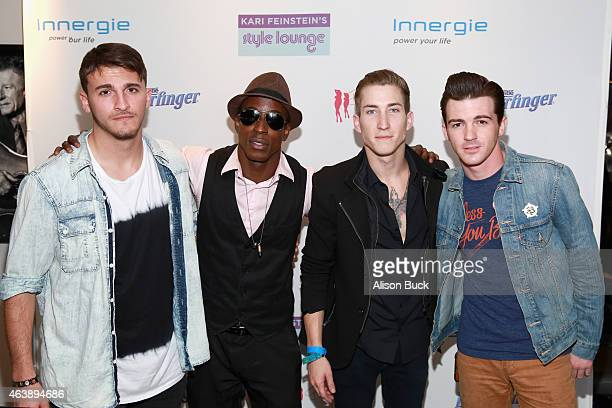 Zane Hijazi guest actor Talon Reid and actor/singer Drake Bell attend Kari Feinstein's Style Lounge presented by Painted by Kameco at the Andaz West...