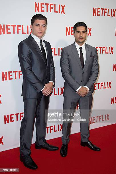 Zane Holtz and DJ Cotrona attend the 'Netflix' Launch Party at Le Faust on September 15 2014 in Paris France