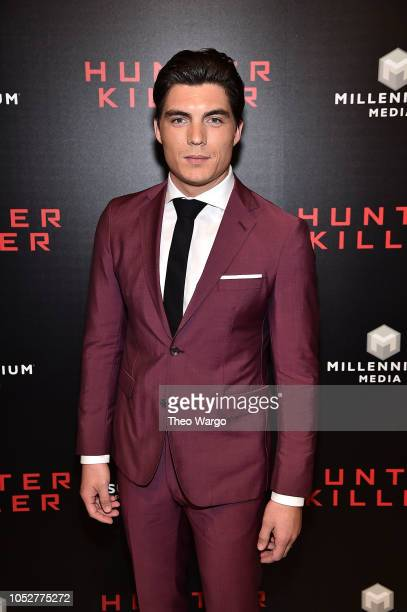 Zane Holtz attends the Hunter Killer World Premiere at Intrepid SeaAirSpace Museum on October 22 2018 in New York City