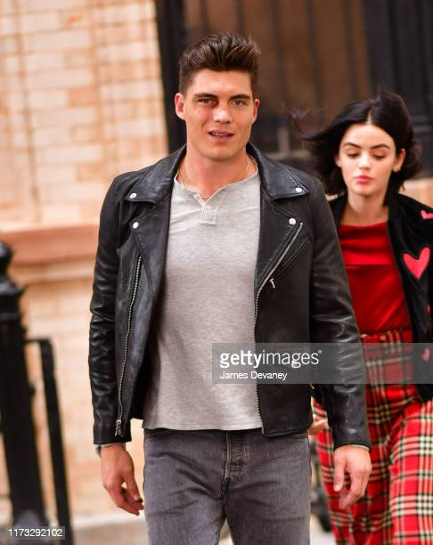 Zane Holtz seen filming on location for 'Katy Keene' on the streets of Brooklyn on October 2 2019 in New York City