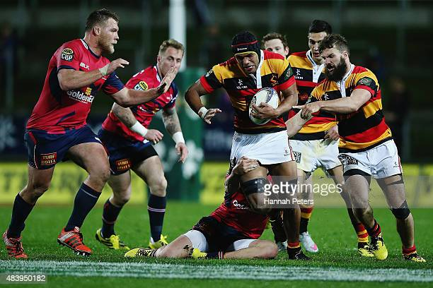 Zane Kapeli of Waikato charges forward during the round one ITM Cup match between Waikato and Tasman at Waikato Stadium on August 14 2015 in Hamilton...
