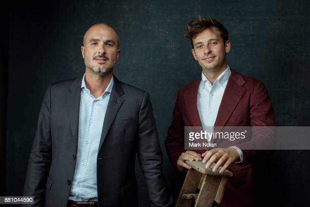 Zane Lowe and Flume poses for a portrait during the 31st Annual ARIA Awards 2017 at The Star on November 28 2017 in Sydney Australia
