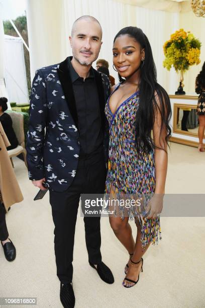 Zane Lowe and Normani attend 2019 Roc Nation THE BRUNCH on February 9 2019 in Los Angeles California