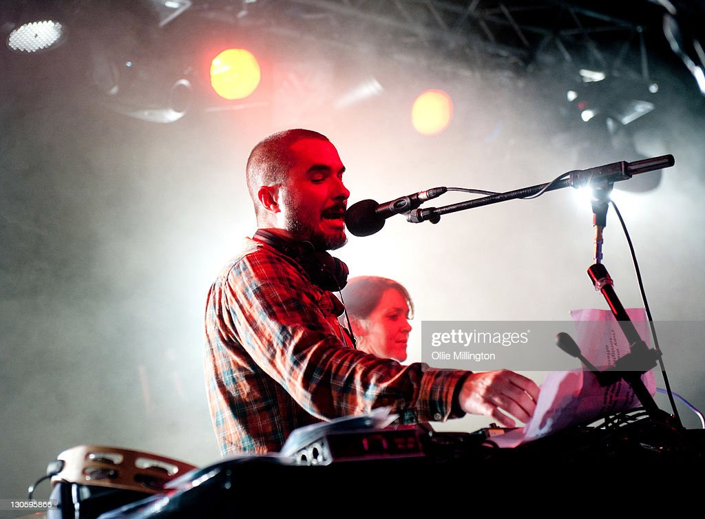 DJ Zane Lowe broadcasts live on BBC Radio 1 during Zane Lowe's BBC Radio 1 Student Tour 2011 with Kasabian at O2 Academy on October 26, 2011 in Leeds, United Kingdom.