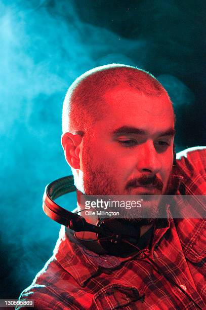 Zane Lowe broadcasts live on BBC Radio 1 during Zane Lowe's BBC Radio 1 Student Tour 2011 with Kasabian at O2 Academy on October 26 2011 in Leeds...