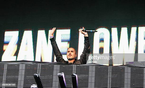Zane Lowe DJ's on stage during BBC Radio 1's Big Weekend at Glasgow Green on May 23 2014 in Glasgow United Kingdom