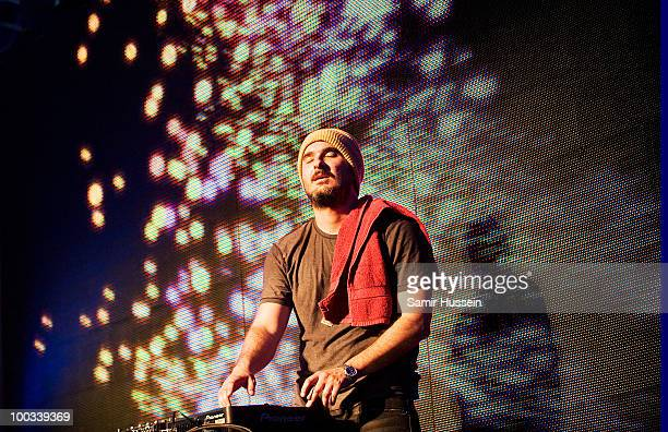 Zane Lowe of Faithless performs on day 1 of Radio 1's Big Weekend on May 22 2010 in Bangor Wales