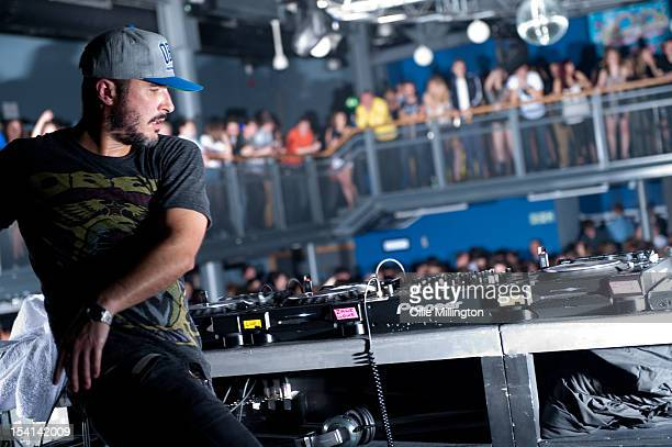 Zane Lowe performs a date of 'The Electrified Tour' on stage during the Fresher's Closing Party at O2 Academy Leicester on October 14 2012 in...