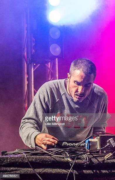 Zane Lowe performs on stage at Shakedown Festival 2013 at Stamner Park on September 28 2013 in Brighton England