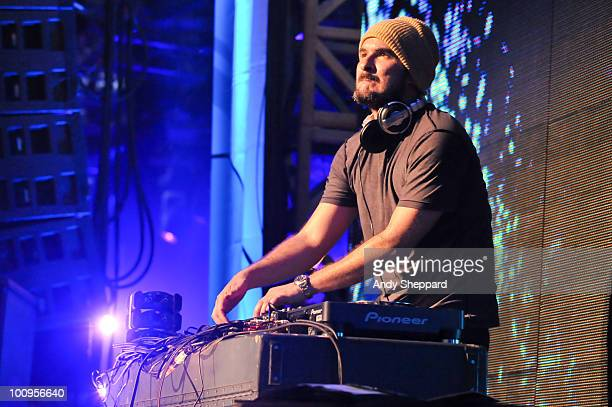 Zane Lowe performs on stage during day one of BBC Radio 1's Big Weekend on May 22 2010 in Bangor Wales