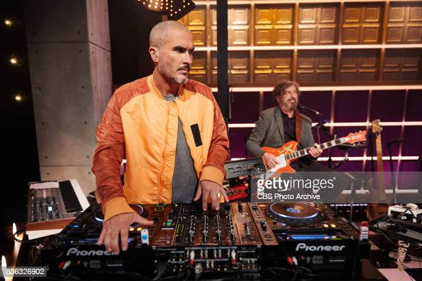 Zane Lowe performs with the Late Late Show Band during 'The Late Late Show with James Corden' Wednesday August 16 2017 On The CBS Television Network