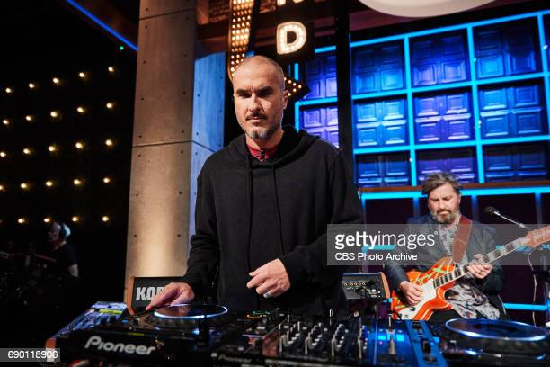 Zane Lowe performs with the Reggie Watts and the Late Late Show band during 'The Late Late Show with James Corden' Thursday May 25 2017 On The CBS...