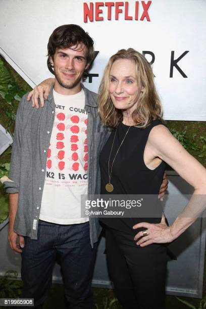 """Zane Pais and Lisa Emery attend """"Ozark"""" New York Screening at The Metrograph on July 20, 2017 in New York City."""