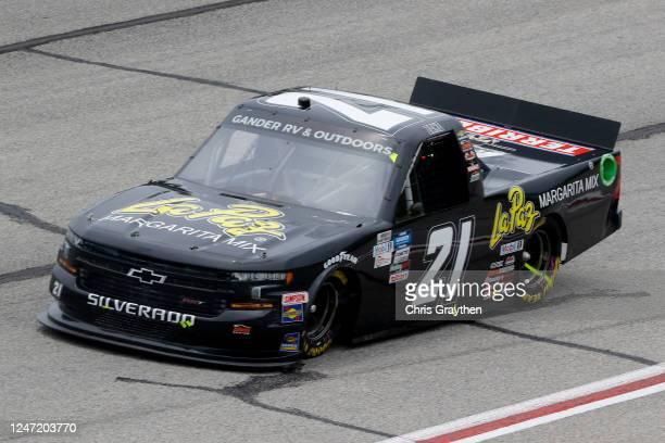 Zane Smith, driver of the LaPaz Margarita Mix Chevrolet, drives during the NASCAR Gander Outdoors Truck Series Vet Tix Camping World 200 at Atlanta...