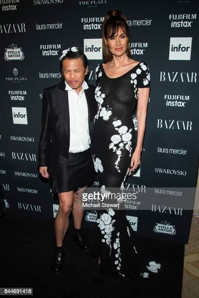 Zang Toi and Carol Alt attend 2017 Harper's Bazaar Icons at The Plaza Hotel on September 8 2017 in New York City