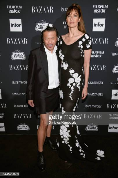 Zang Toi and Carol Alt attend Harper's BAZAAR Celebration of 'ICONS By Carine Roitfeld' at The Plaza Hotel presented by Infor Laura Mercier Stella...