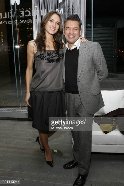 Zani Gugelmann and Carlos Mota during The Launch of Carlos Mota for Villency Atelier Hosted by Eric Villency and Margaret Russell November 15 2006 at...