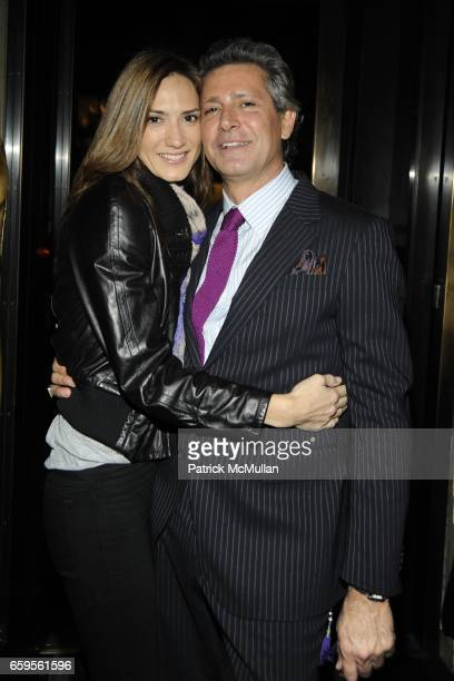 Zani Gugelmann and Carlos Souza attend Gwyneth Paltrow and VBH's Bruce Hoeksema Host Cocktail Party for Valentino The Last Emperor at VBH on October...