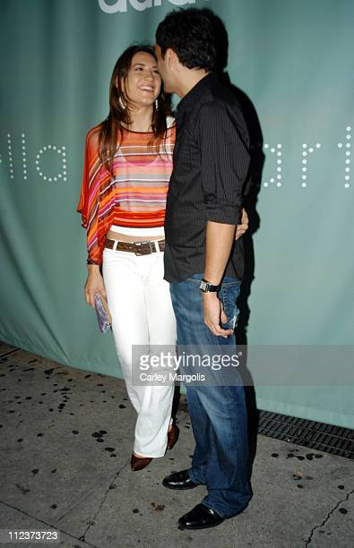 Zani Gugelmann and Fabian Basabe during Stella McCartney Launches her New Sports Performance Line With Adidas at Sky Studios in New York City New...