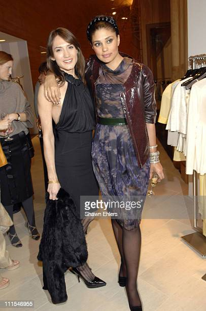 Zani Gugelmann and Rachel Roy during Ron Frasch Rachel Roy and Iman Host a Celebration of the Rachel Roy Collection at Saks Fifth Avenue at Saks...