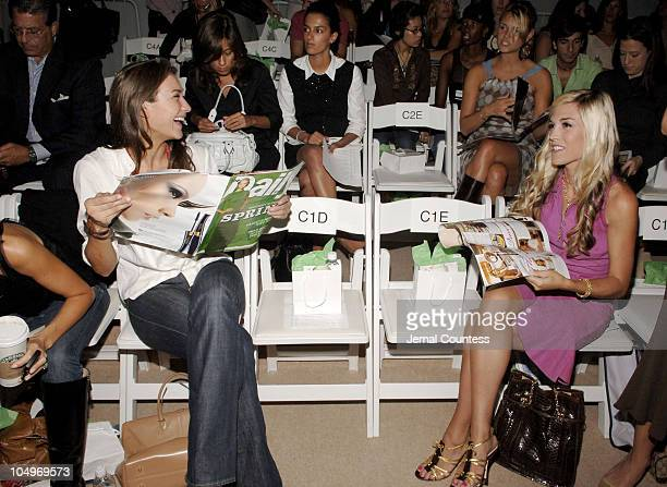 Zani Gugelmann and Tinsley Mortimer during Olympus Fashion Week Spring 2006 Douglas Hannant Front Row at The Plaza in New York City New York United...