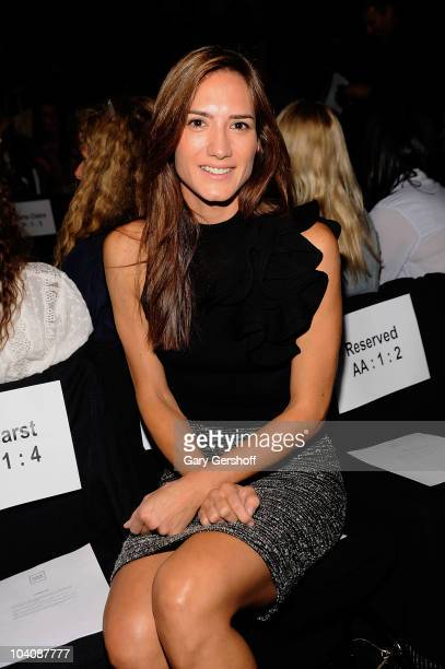Zani Gugelmann attends the Herve Leger by Max Azria Spring 2011 fashion show during MercedesBenz Fashion Week at The Theater at Lincoln Center on...