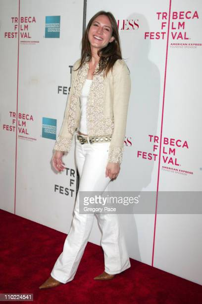 Zani Gugelmann during 4th Annual Tribeca Film Festival Seamless Premiere Inside Arrivals at Tribeca Performing Arts Center in New York City New York...