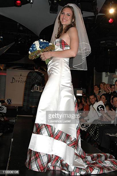 Zani Gugelmann during Johnnie Walker Presents Dressed to Kilt Arrivals and Runway at Copacabana in New York City New York United States