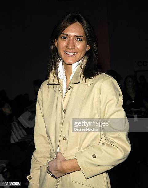 Zani Gugelmann during Olympus Fashion Week Fall 2006 Anait Bain Front Row at Atelier Bryant Park in New York City New York United States