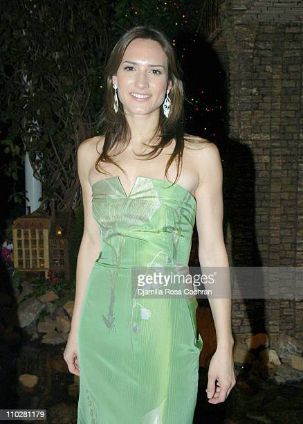 Zani Gugelmann during Winter Wonderland Ball December 9 2005 at Botanical Gardens in Bronx New York United States