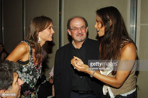 Zani Gugelmann Salman Rushdie and Padma Lakshmi Rushdie attend THE CINEMA SOCIETY DKNY JEANS after party for THE LAST KISS at The Yard at the Soho...