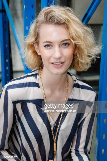 Zanita Morgan attends the Christopher Esber show during MercedesBenz Fashion Week Australia Spring/Summer 2013/14 at 10 Carrington Rd Marrickville on...