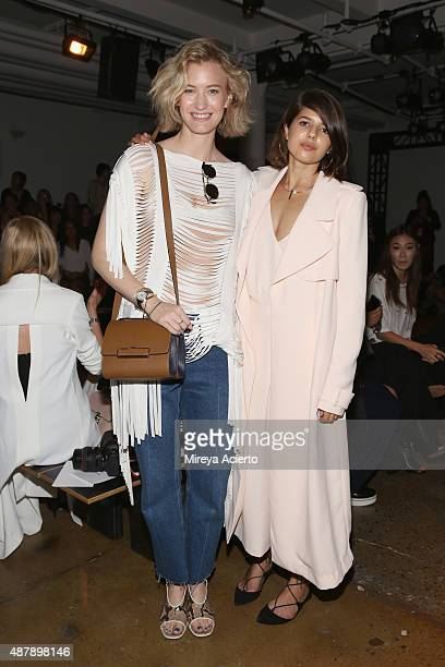 Zanita Whittington and Talisa Sutton attend the Dion Lee fashion show during Spring 2016 MADE Fashion Week at Milk Studios on September 12 2015 in...
